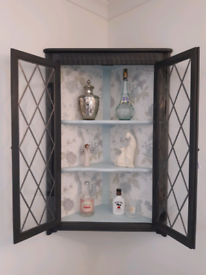 Corner wall mounted gin/drinks cabinet