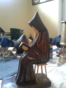 Hand carved Monk