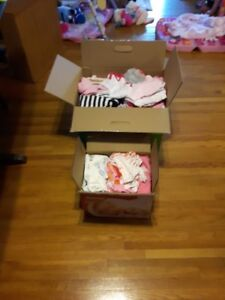 Big Lot Of Baby Girl Clothes  0-3 & 3 Months
