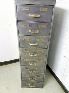 Vintage Polished Filing Cabinet