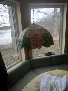 Beautiful vintage stained glass chandelier