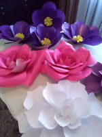 Paper flowers for weddings, occassions, table decor, backdrop.