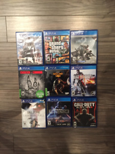 9 GAMES ON PS4 REALLY BEST CONDITION!!!