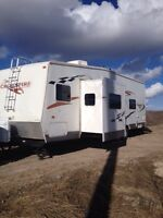 REDUCED/ 2007 toy hauler travel trailer/Or Trade