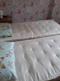 Beds, 2 Single or Superking FREE
