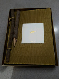 Garden Book or Journal with wooden pencil and accessories-$10