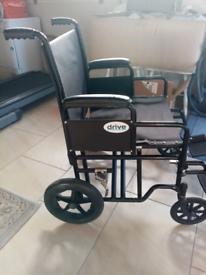 Folding Wheelchair-wide seat