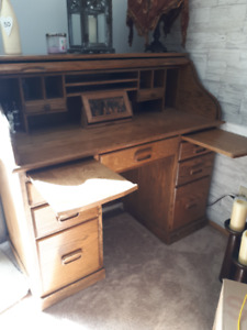 REDUCED...MOVING JULY 28TH....Mennonite Roll Top Desk