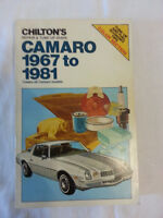 Camaro 1967 to 1981 Repair and Tune-up Guide by Chilton