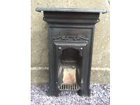 Small Victorian Cast Iron Fireplace