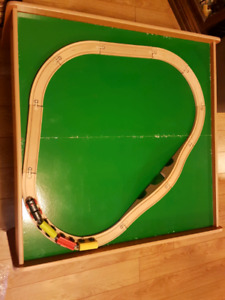 WOODEN TRAIN SET & TABLE FOR SALE