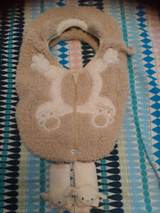 Car seat cover with cover seat belt