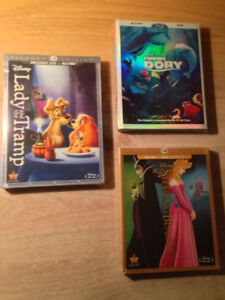 BluRay Disney Neuf! Belle et la Bête -Roi Lion 1,2,3 Peter Pan