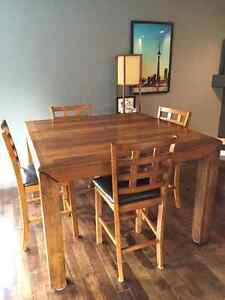 High top table and 4 stools