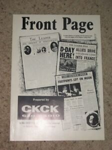 FRONT PAGE -  historical news in pages of the Leader