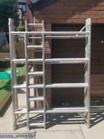 boss youngman double aluminium scaffold tower.