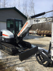 2016 Bobcat E55 Excavator with only 105hrs and 1 year warranty