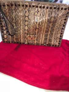 Authentic Valentino Snakeskin large Clutch