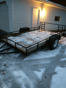 6 X 10 Utility Trailer Drop axle