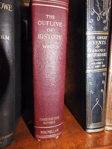 antique book Outline of History  1921