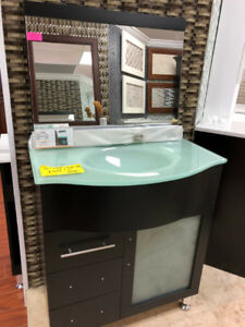 "30"" modern vanity set with mirror only $399!!"