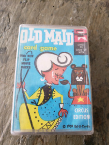 Vintage *MINT* 1959 OLD MAID circus edition playing cards