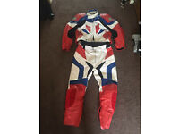 Motorcycle 2 piece leathers men's