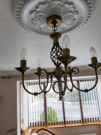 Antique brass 5 bulbs lights