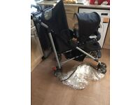 Mothercare tandem double pushchair