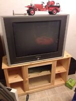 "27"" TV with Stand for sale"