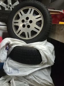 Winter Tires and Rims - 4 - 215/60R16 Cooper Weather Master Snow
