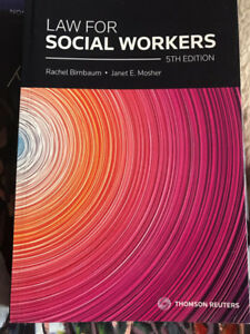 Book for sale: Law for social workers 5th edition