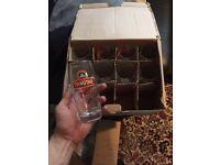 Box of 9 TSINGTAO beer glasses **BARGAIN**