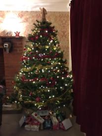 6FT High Quality Metal Hinged Christmas Tree