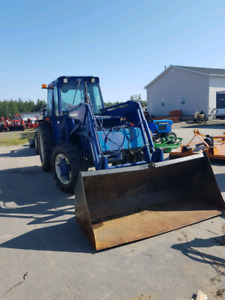 1987 landini with bucket and front plow 85hp tractor