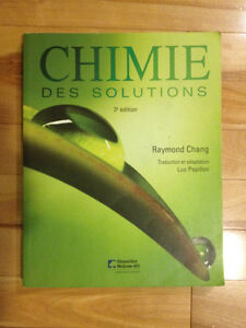Chimie des Solutions par Chang