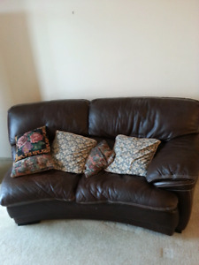 Leather side couch