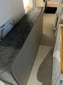 Single Divan Bed Base with Mattress and Headboard