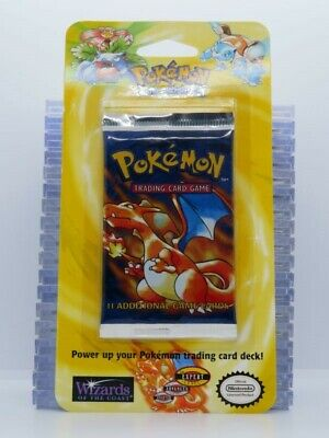 1999 Pokemon Base Set Sealed 11-Card Booster Blister Pack Charizard (D) A45