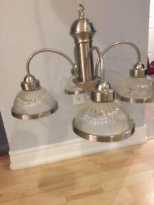 Beautiful, like-new, brushed nickel kitchen light