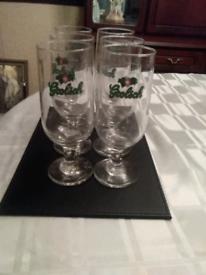 6 grolsch glass