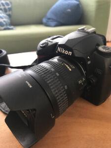 Camera réflex numérique Nikon D70s, objectifs et accessoires