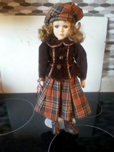 "17"" Collectible Porcelain Doll"