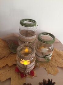 Mason jars for weddings or home decoration!