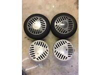 "Rare Carmona 14"" alloy wheels 4x100 lupo polo golf mk2 mk1"