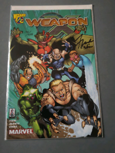 "Wizard No. 1/2  ""Weapon X"". Signed by Frank Tieri"