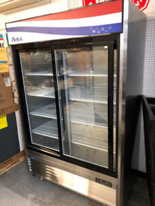 New Atosa 2 door sliding glass cooler for sale.