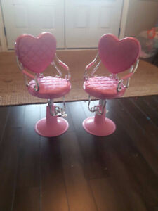 OUR GENERATION/AMERICAN GIRL SALON STOOLS