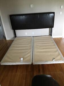 Base et tête de lit king