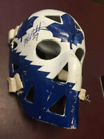 MIKE PALMATEER Signed Toronto Maple Leafs Mask by Don Scott